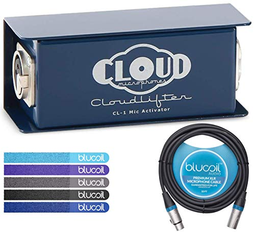 - Cloud Microphones CL-1 Cloudlifter 1-Channel Mic Activator - Feedback Reducer Bundle with Blucoil 10-Ft Balanced XLR Cable, and 5-Pack of Reusable Cable Ties