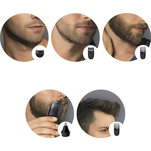 from usa braun multi grooming kit mgk3020 6 in 1 hair beard trimmer for men face and head. Black Bedroom Furniture Sets. Home Design Ideas