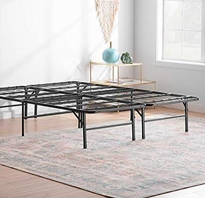 Linenspa14 Inch FoldingMetalPlatform Bed Frame