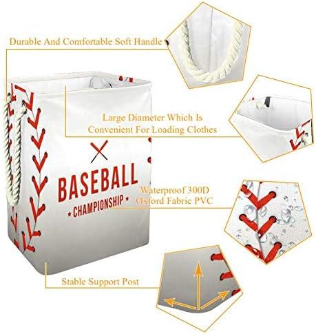 EZIOLY Panier à linge pliable fond baseball avec poignées et supports amovibles et étanche pour vêtements, jouets organisation, buanderie, chambre à coucher,