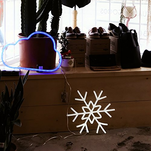 DragonX LED Neon Sign Light-Home and Party Decorations-12 Volts PVC Tube Acrylic Wall Art-Big Snowflake by DragonX (Image #6)