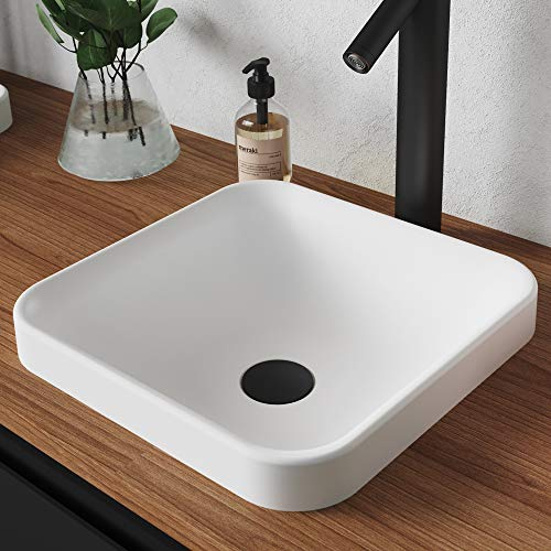 Kraus KSR-9MW Natura Bathroom Sink, Matte White