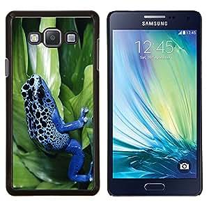 TECHCASE---Cubierta de la caja de protección para la piel dura ** Samsung Galaxy A7 ( A7000 ) ** --Enfriar Neon Blue Jungle Rana