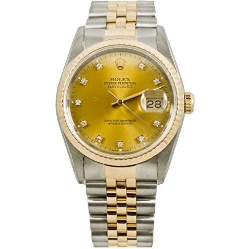 Wind Rolex Watch (Rolex Datejust automatic-self-wind mens Watch 16233ACD (Certified)