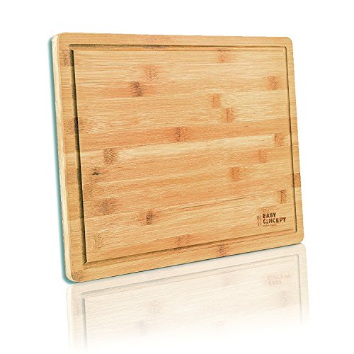 EXTRA LARGE Bamboo Cutting Board for Kitchen with Juice Groove - Thick, Non-Slip Laminated Layers for Meat Carving (Butcher Block) - Anti Microbial Chopping Board for Fruits, and Vegetables - (Classic Bamboo Cutting Board)