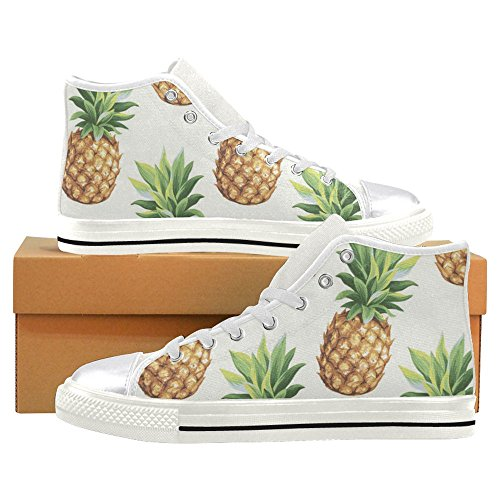 InterestPrint Womens High Top Classic Casual Canvas Fashion Shoes Trainers Sneakers Pineapples pABCzXDJ8