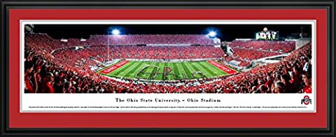 Ohio State Football - Band Script - Blakeway Panoramas College Sports Posters with Deluxe Frame (The Dazzle Picture Frames)