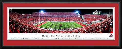 (Ohio State Football - Band Script - Blakeway Panoramas College Sports Posters with Deluxe Frame)