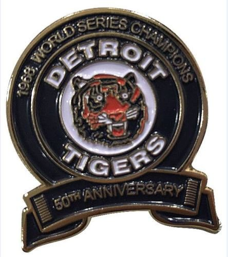 (Baseball 2018 Tigers 50TH Anniversary PIN World Series Champions Collectible PINPRE-Order Item - Shipping Begins August 28TH)