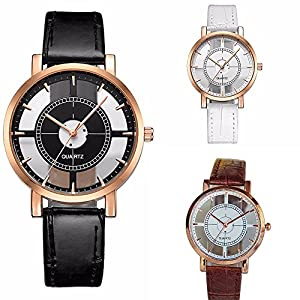 Wholesale! Hmlai 3 pack Women Neutral Personality Simple Analog Wrist Delicate Unique Hollow Watch