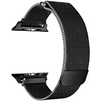 OROBAY For Apple Watch Band 42mm in Stainless Steel (Black)