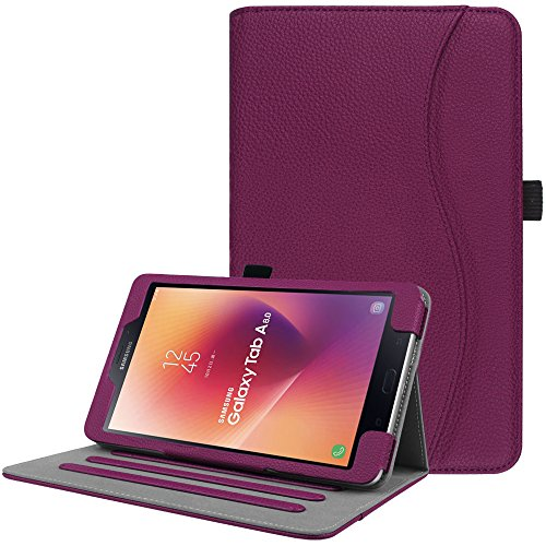Fintie Case for Samsung Galaxy Tab A 8.0 2017 Model T380/T385, Multi-Angle Viewing Stand Cover with Auto Sleep/Wake for Galaxy Tab A 8.0 Inch SM-T380/T385 2017 Release, Purple