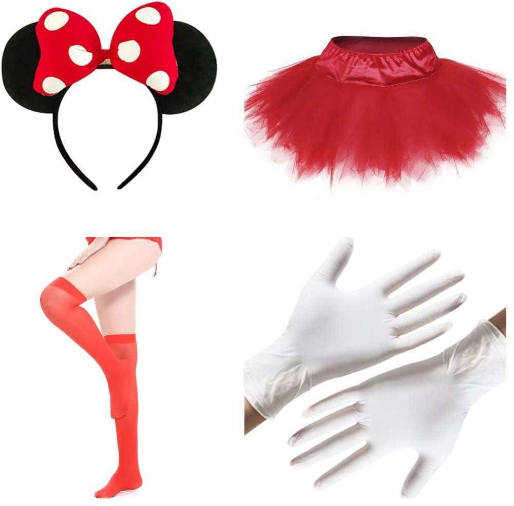 thematys Juego de Disfraces de 4 Piezas de Minnie Mouse para Mujer ...