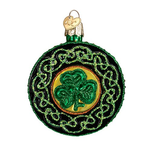 Old World Christmas Ornaments: Celtic Brooch Glass Blown Ornaments for Christmas Tree