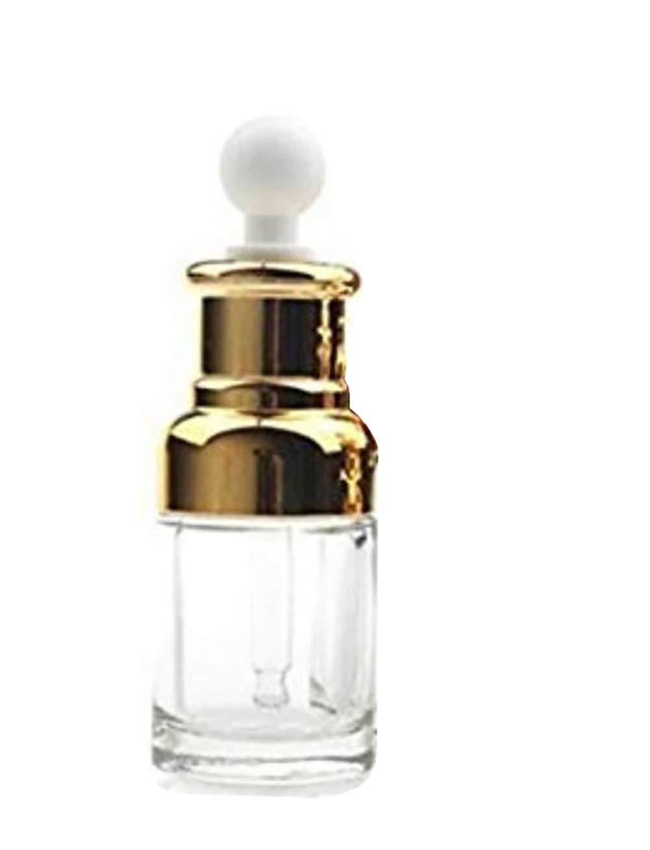 1 botella de cristal transparente con tapó n dorado y tarro de pipeta para aromaterapia, aceite esencial de perfume, lí quido elite y cosmé tico líquido elite y cosmético TUPWEL