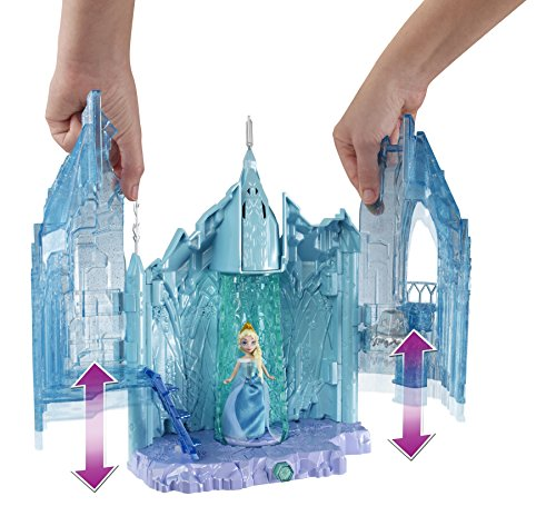 Disney Frozen Small Doll Elsa and Magical Lights Palace Playset