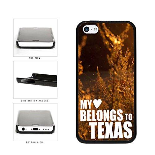 BleuReign(TM) My Heart Belongs To Texas Plastic Phone Case Back Cover Apple iPhone 5c