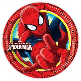 Ultimate Spiderman 8 Pack Party Plates Paper