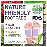 Detox Foot Pads by Groovy Jungle | Remove Impurities, Body Cleansing, Relieve Stress | New Advanced Formula | 24pcs