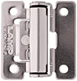 Sugatsune HG-TS15 Stainless Steel 304 Torque Hinge, Polished Finish, 1.2mm Leaf Thickness, 48mm Open Width, 8.5mm Pin Diameter, 40mm Height, 13.3 lbs inch Torque