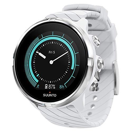 Suunto 9 GPS-sporthorloge met lange batterijduur en hartslagmeting aan de pols, wit, SS050143000