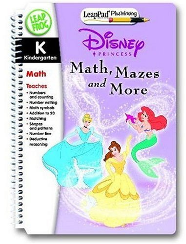 LeapFrog LeapPad Educational Book: Disney Princesses Math, Mazes and More by LeapFrog