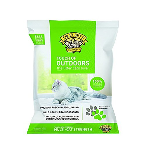 Precious Cat Dr. Elsey's Touch of Outdoors Natural Clay/Prairie Grass Multi-Cat Litter, 40 lb Box