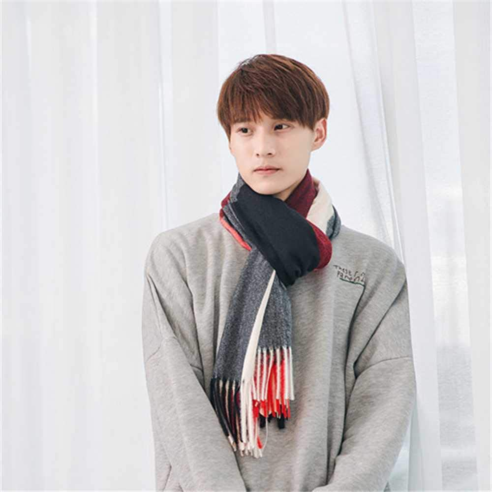 HOOXL MenS Scarf Warm Flow Sugged Scarves MenS Imitation Cashmere Scarf