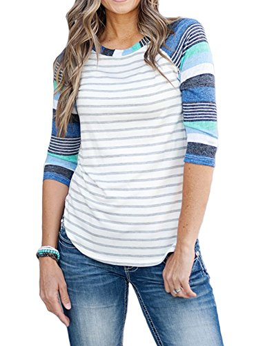 MEROKEETY Striped Contrast Baseball Printed product image