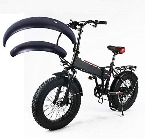 SPLLEADER Llantas de 20 Pulgadas de Grasa Alas Snowboard Bicicleta eléctrica Guardabarros Guardabarros 20x4.0 Plegable de Acero Inoxidable Traje de Guardabarros Robusto Especial: Amazon.es: Deportes y aire libre