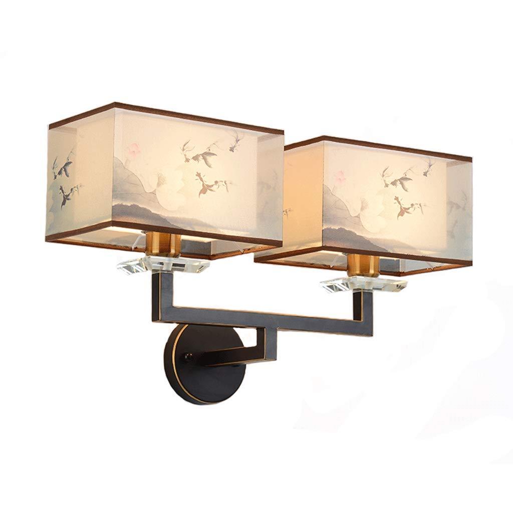 壁ランプベッドサイドランプコリドーライトインクペインティング古代ライムレトロ (サイズ さいず : 二) B07KD9X93Q  二