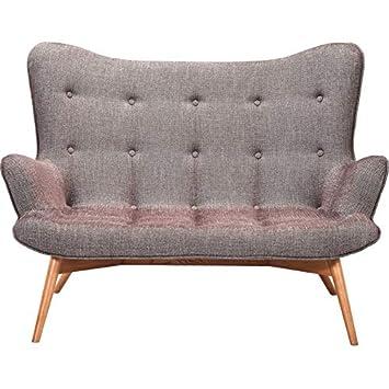 Sofa Angels Wings Rhythm 2er Sitzer, Braun, Moderner Couchsessel Im  Retrodesign, Kleine Einzelsofas