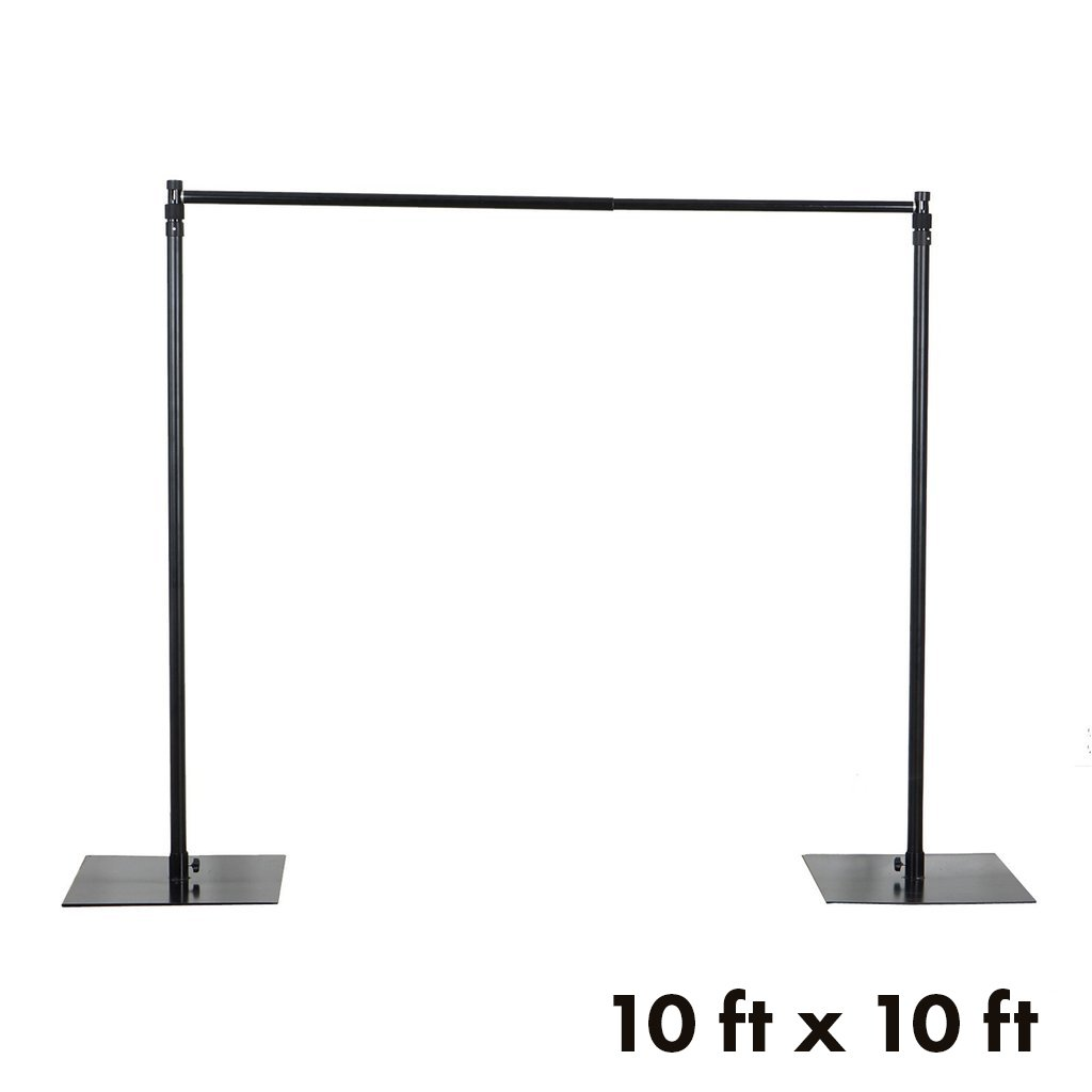 BalsaCircle 10 ft x 10 ft Heavy Duty Adjustable Pipe and Drape Kit Backdrop Support Stand