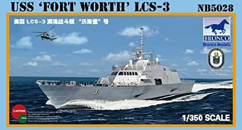 Bronco USS Fort Worth LCS-3 1:350 Scale Military Model Kit (Military Fort)