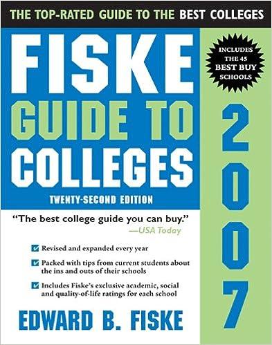 Lataa ilmainen epub eBooks androidille Fiske Guide to Colleges 2007 B00BFQK2WE iBook