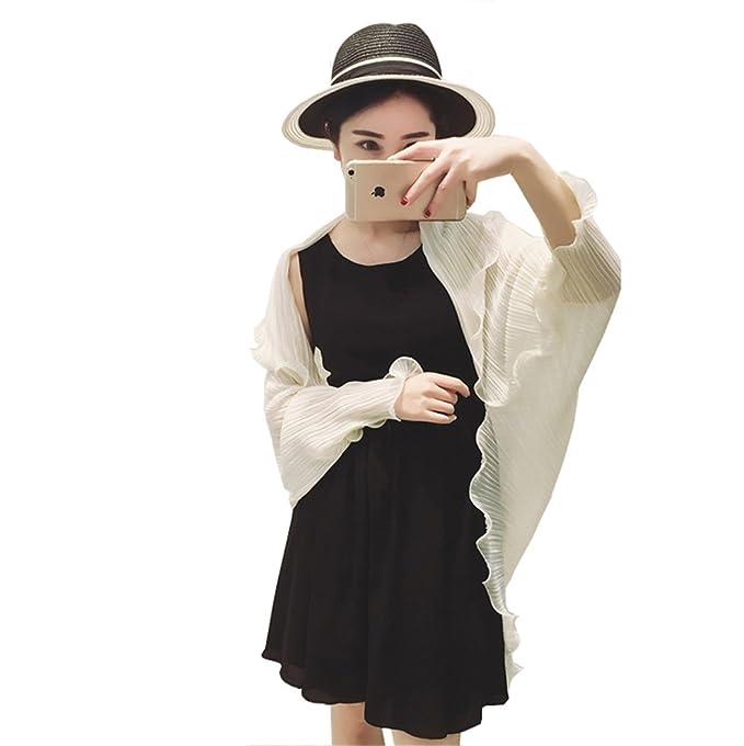 Santwo Fashion - chal de gasa para playa, para mujer, con bufanda, para