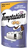 Whiskas Temptations Creamy Dairy Flavour Treats for Cats, 3-Ounce Pouches (Pack of 12) by Temptations