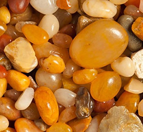 Rock River Natural - Safe & Non-Toxic {Various Sizes} 20 Pound Bag of Gravel, Rocks & Pebbles Decor for Freshwater Aquarium w/ Earthy Toned Polished Simple Natural River Inspired Sleek Style [Gray, Tan & Brown]
