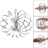 Magic Flow Rings, Adpartner Kinetic 3D Spring Toy Interactive Multi Sensory Sculpture Ring Game Stainless Steel Toys for Kids Teens Adults