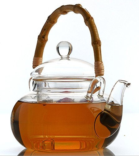 glass and bamboo tea kettle - 7