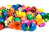 Toy Filled Easter Eggs by Neliblu Bulk Pack 50 Bright and Colorful 2.5'' Pre Filled Easter Eggs Surprise, Filled With Popular Toys Great for Easter Baskets, Easter Egg Hunts, Party Favors and Carnivals