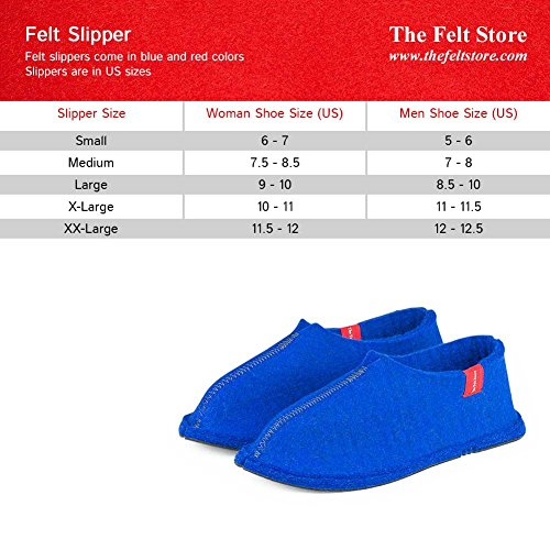 The Brand Felt Ltd. Felt Slippers Royal Blue va3DOlk