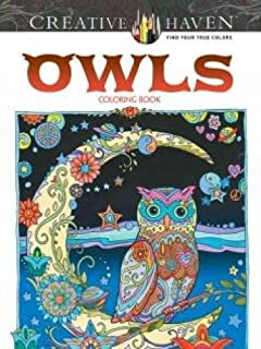 creative haven owls coloring book adult coloring - Dover Coloring Books For Adults