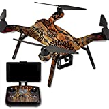 MightySkins Protective Vinyl Skin Decal for 3DR Solo Drone Quadcopter wrap cover sticker skins Wooden Floral