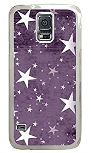 Retro Purple Stars PC Transparent Hard Case Cover Skin For Samsung Galaxy S5 I9600