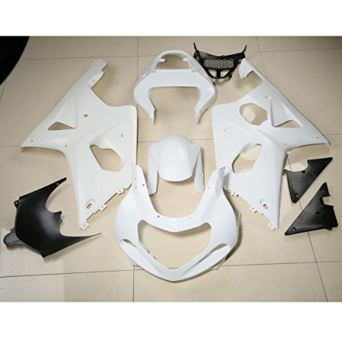 (XMT-MOTO Injection Unpainted ABS Fairing Bodywork Kit For Suzuki GSXR1000 2000 2001 2002)