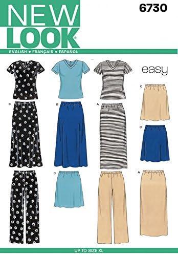 hauts Nouveau Look pour femme Patron de couture facile 6735/vestes jupes et pantalon Pantalon
