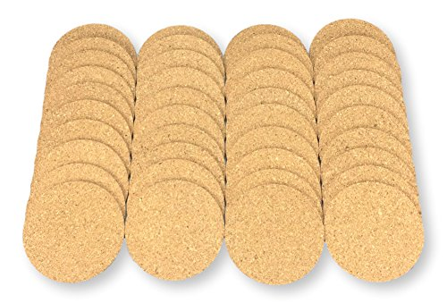 Round Cork Coaster - Keklle Round Cork Coasters - Set of 40 For business,Best Drink Coaster for Drinks in Office, Home, or Cottage