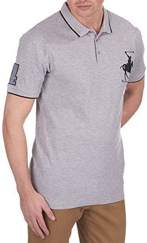 Urban Revival Hombre Polo Caballo Aplique Camiseta Informal ...