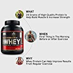 Optimum Nutrition (ON) Gold Standard 100% Whey Protein Powder – 2 lbs, 907 g (Delicious Strawberry), Primary Source…